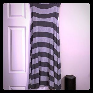 Gap gray-striped maxi skirt